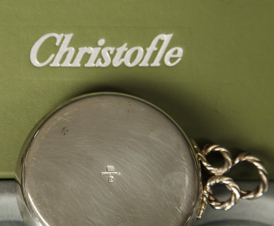 Pair of Silver-plated Christofle Ashtrays - 2