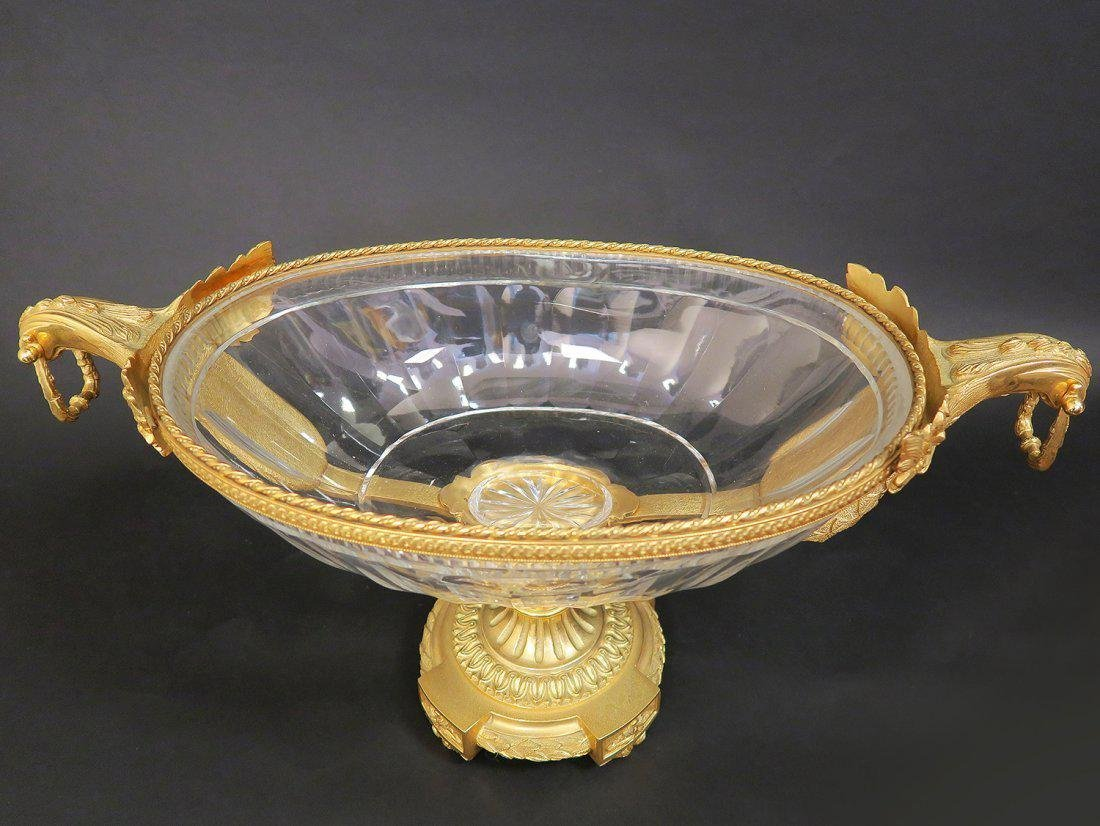 Monumental French Bronze & Baccarat Crystal Centerpiece - 2