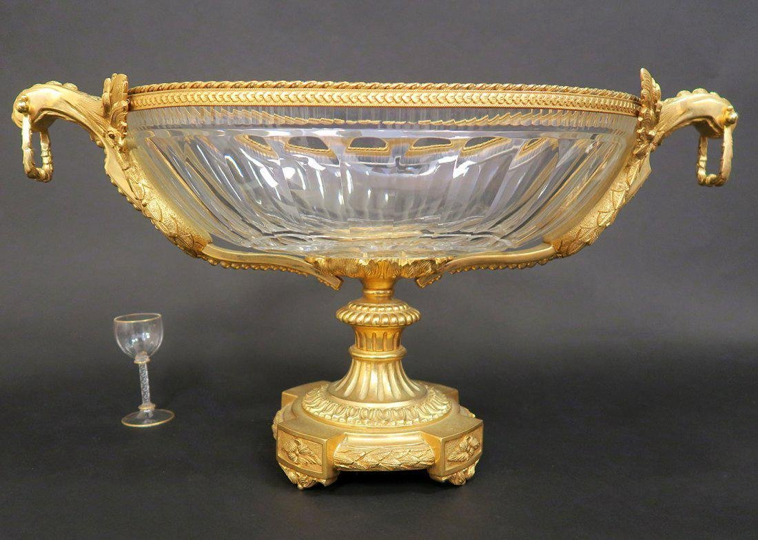 Monumental French Bronze & Baccarat Crystal Centerpiece - 3