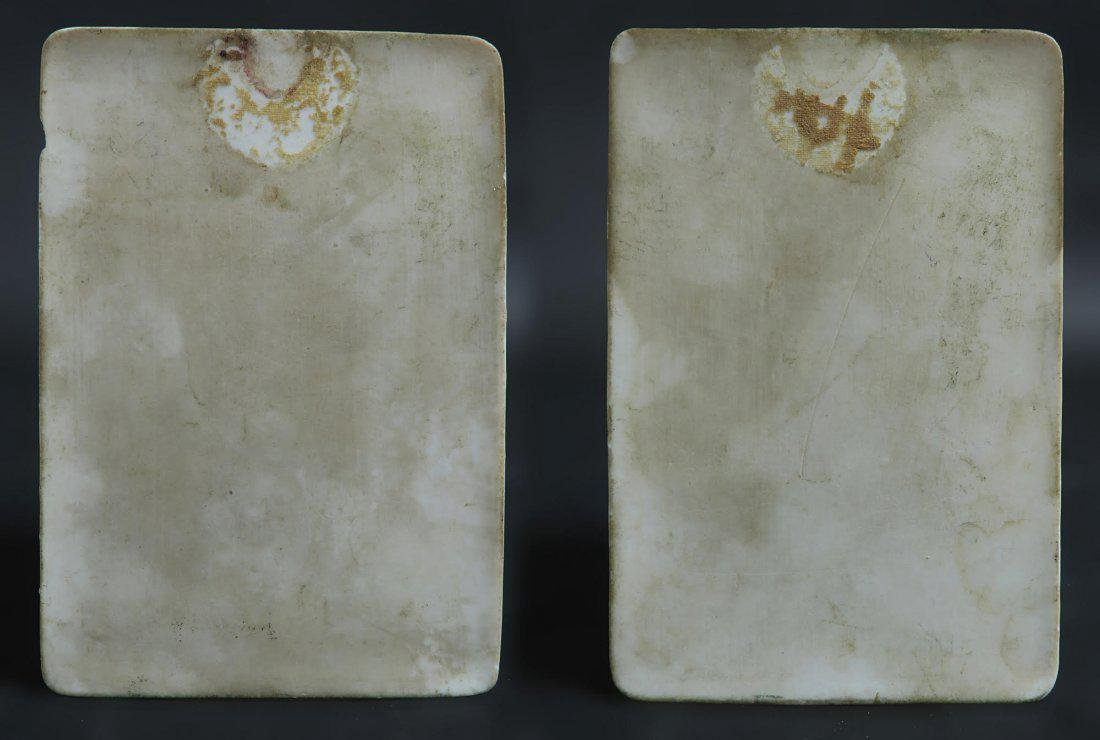 French Pair of Hand Painted Porcelain Plaques - 4