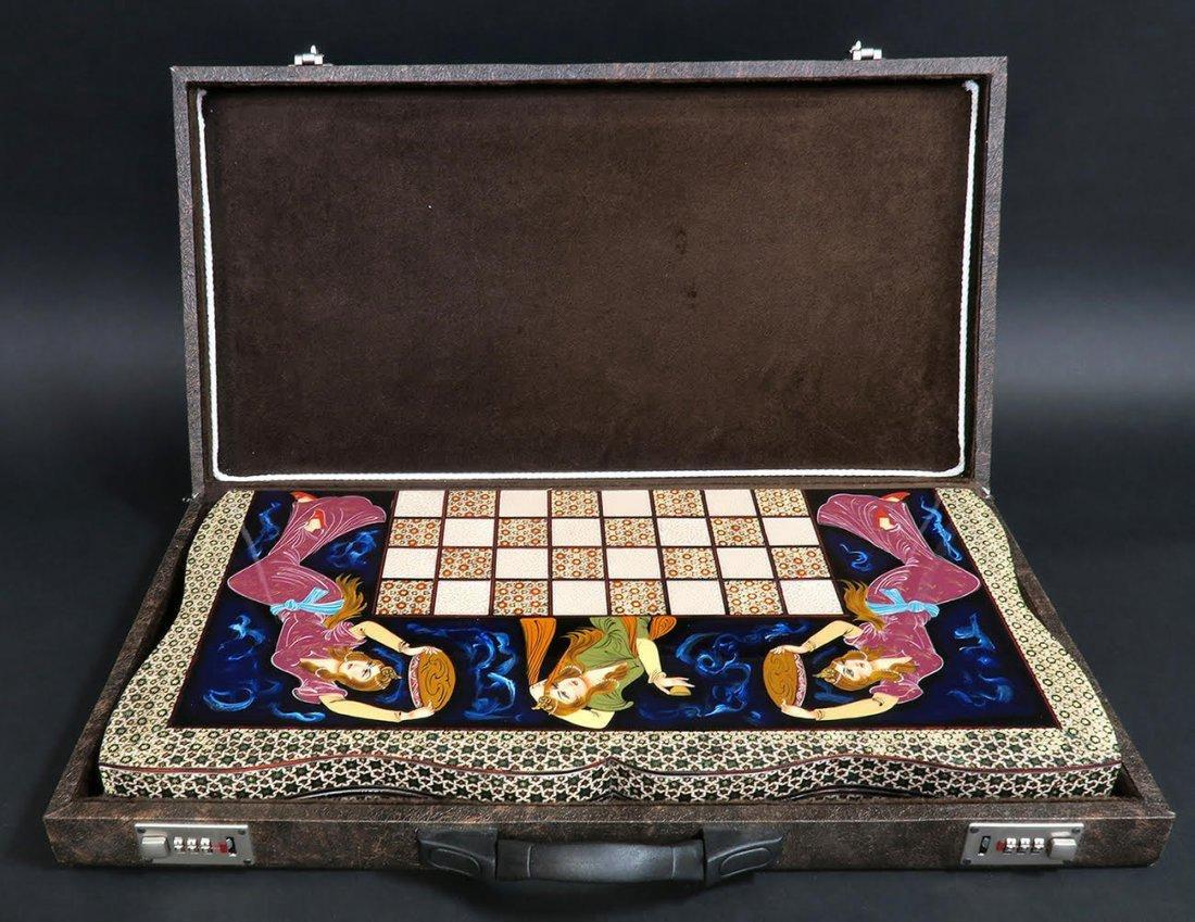 Rare Hand Made (Khatam) Persian Backgammon