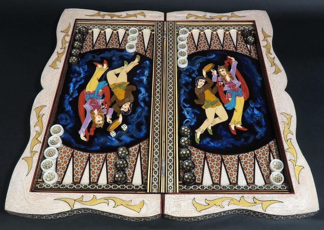 Rare Hand Made (Khatam) Persian Backgammon - 2