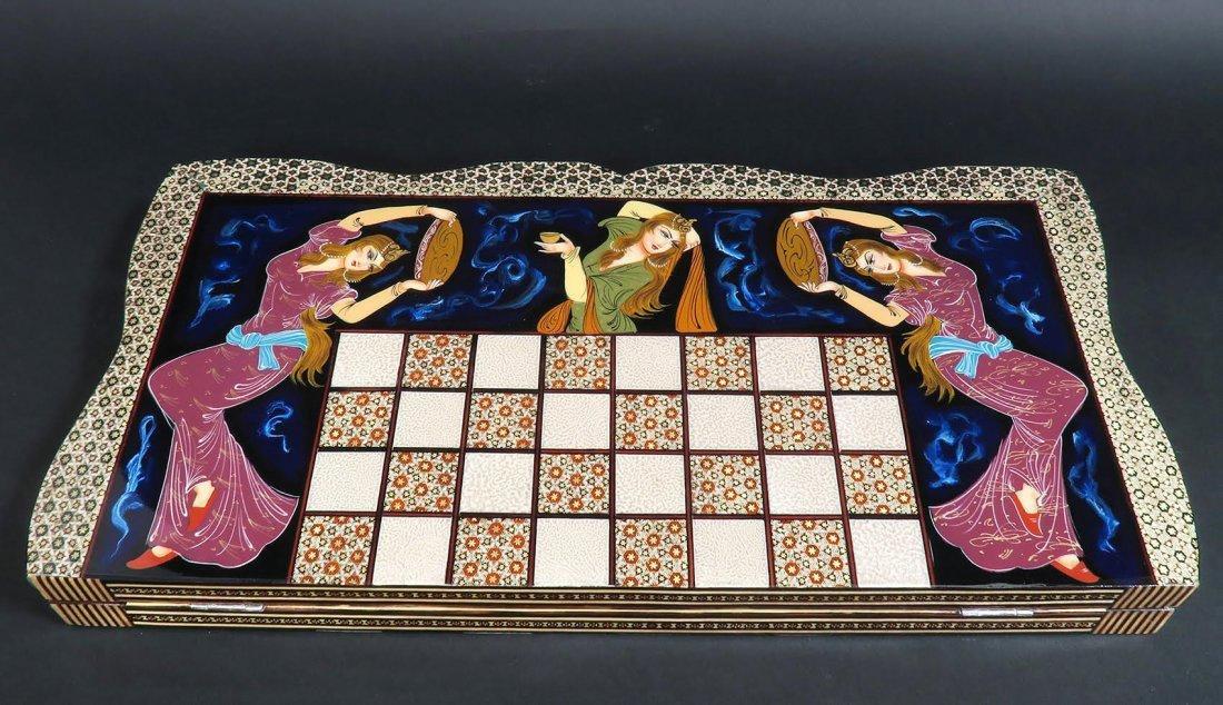 Rare Hand Made (Khatam) Persian Backgammon - 3