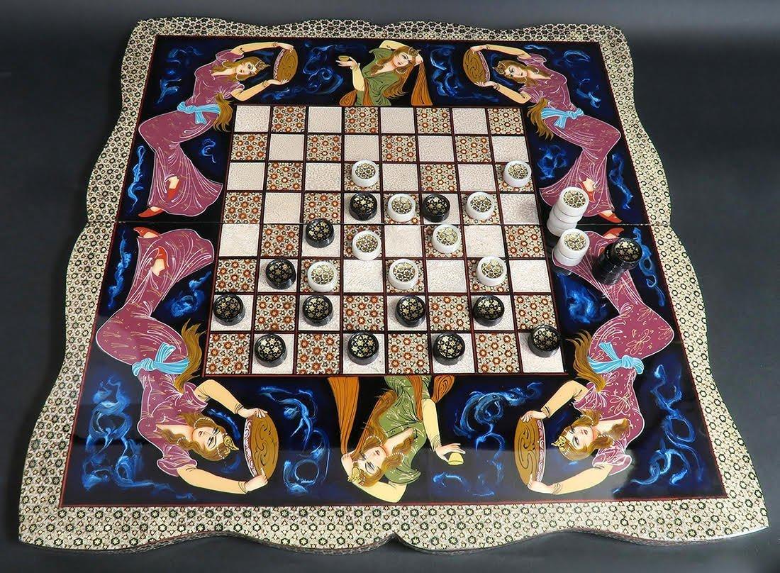 Rare Hand Made (Khatam) Persian Backgammon - 4