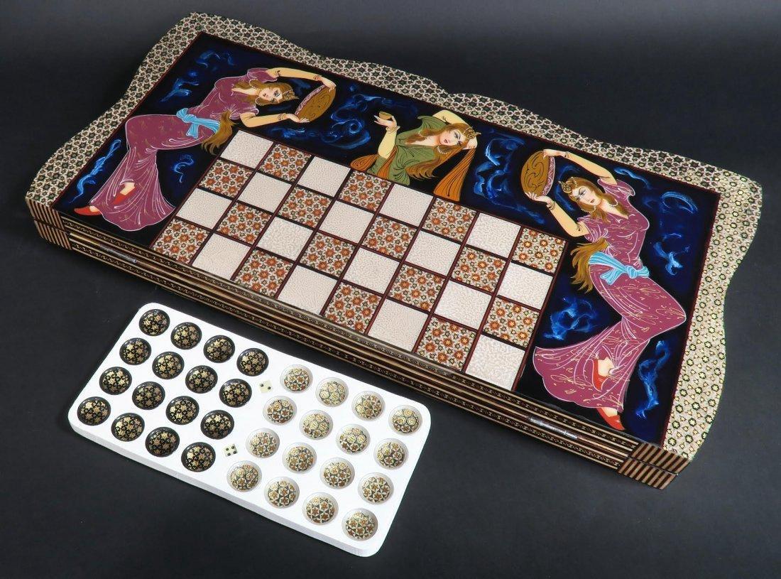 Rare Hand Made (Khatam) Persian Backgammon - 5