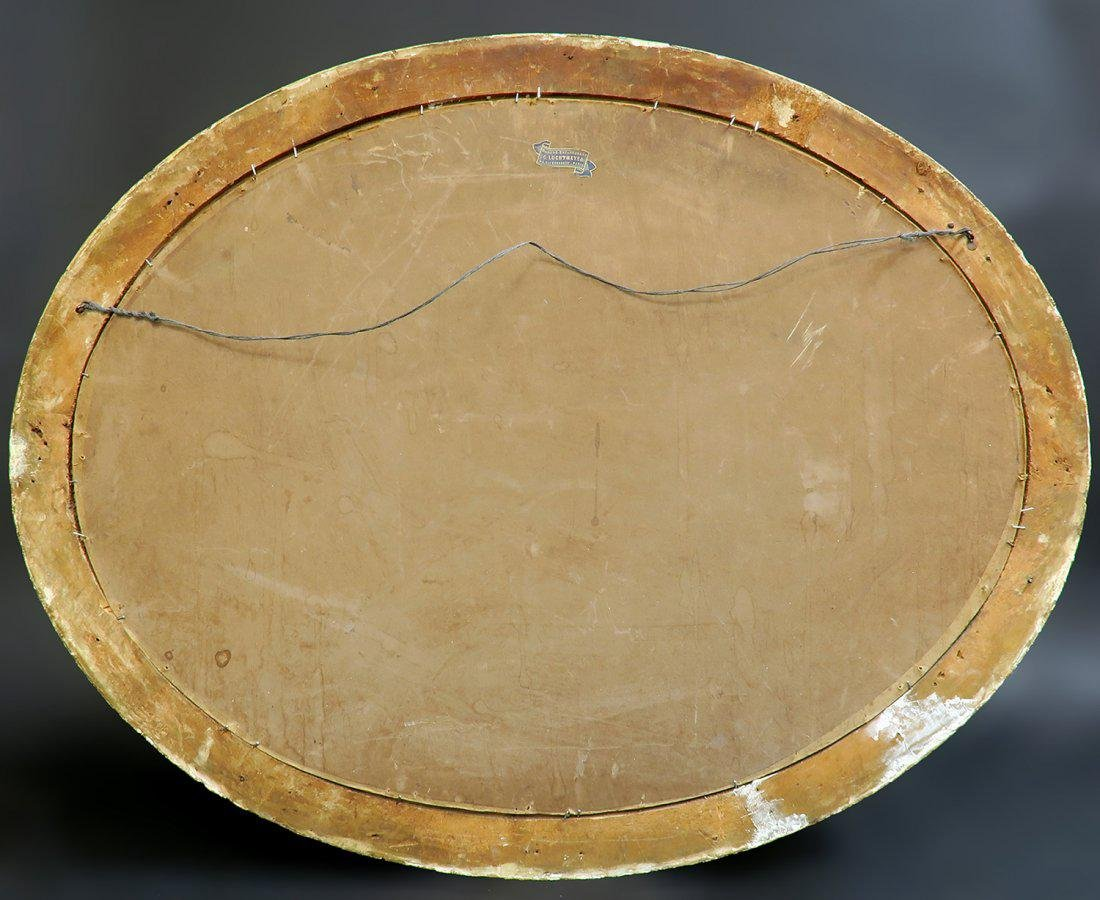 19th C. French Oval Painting on Canvas - 3