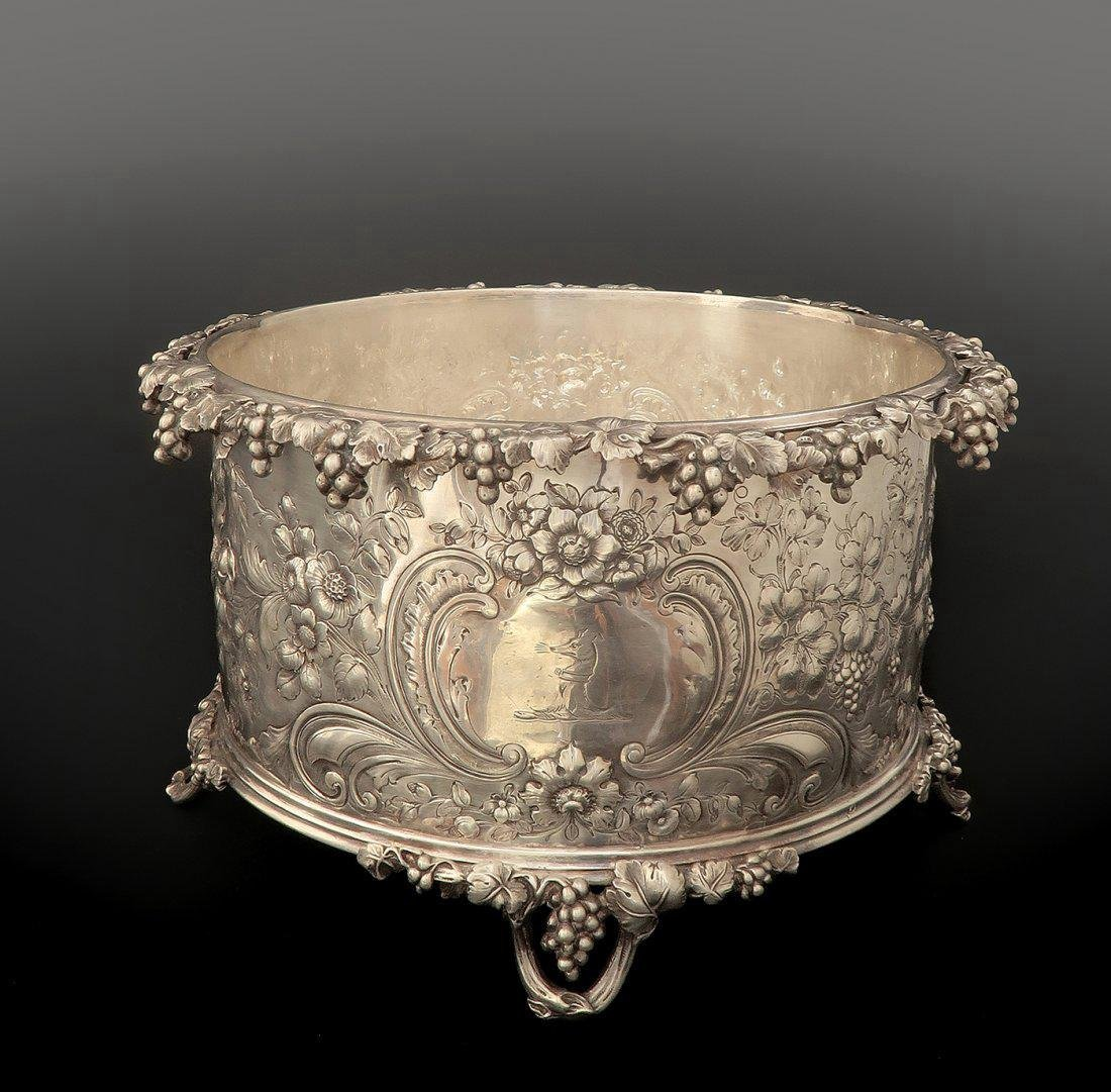 19th C Silver French Plated Jardiniere/Planter