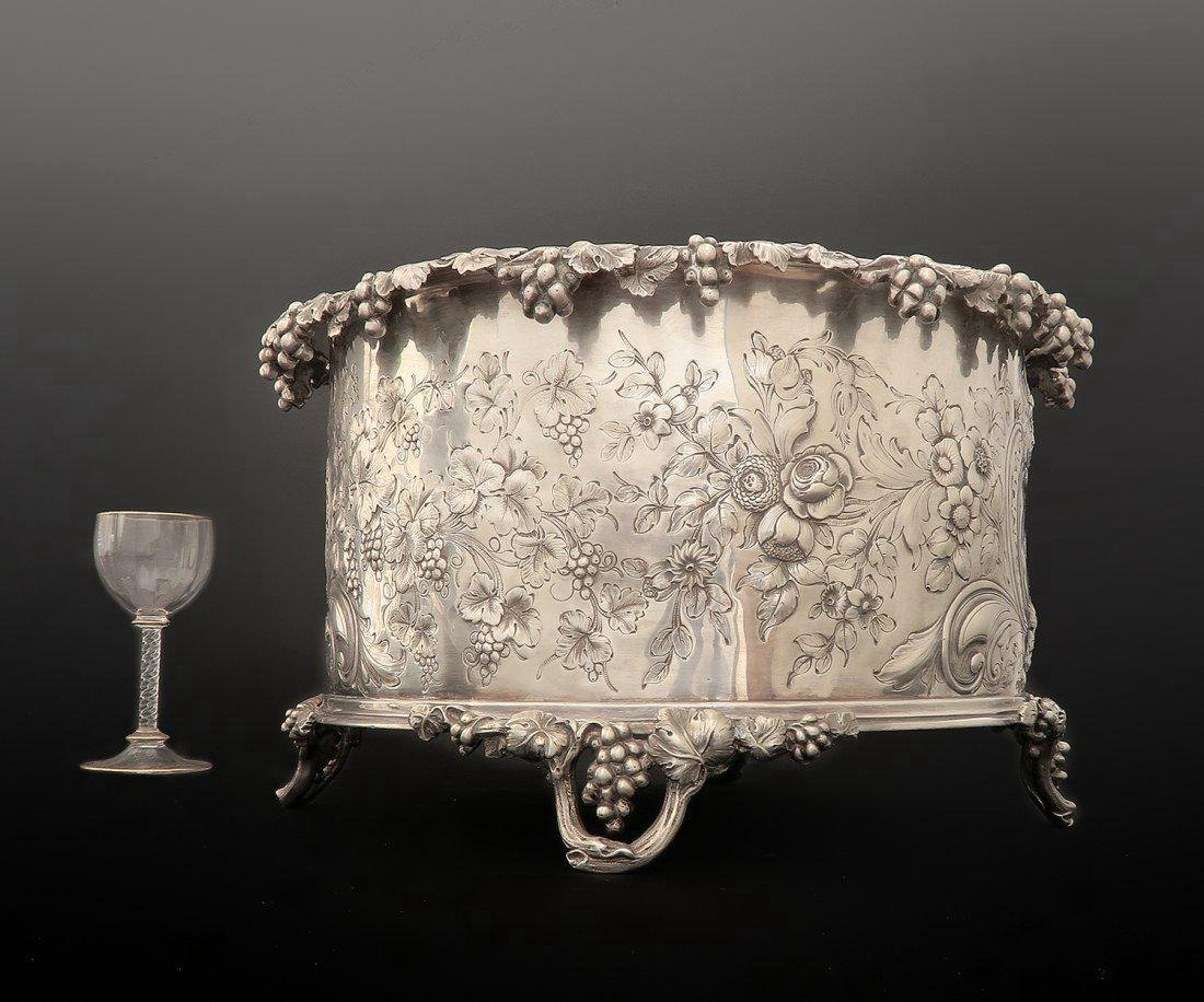 19th C Silver French Plated Jardiniere/Planter - 2