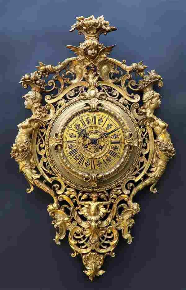 Large 19th C. Tiffany & Co. Cartel (Wall) Clock