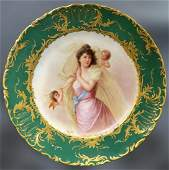 19th C Hand Painted Royal Vienna Plate