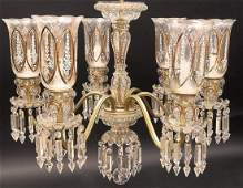 Baccarat Style 6 Branch Crystal Chandelier