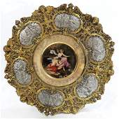 Magnificent Framed 19th C Royal Vienna Plate
