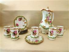 Limoges French Chocolate Set by Alfred Lanternier