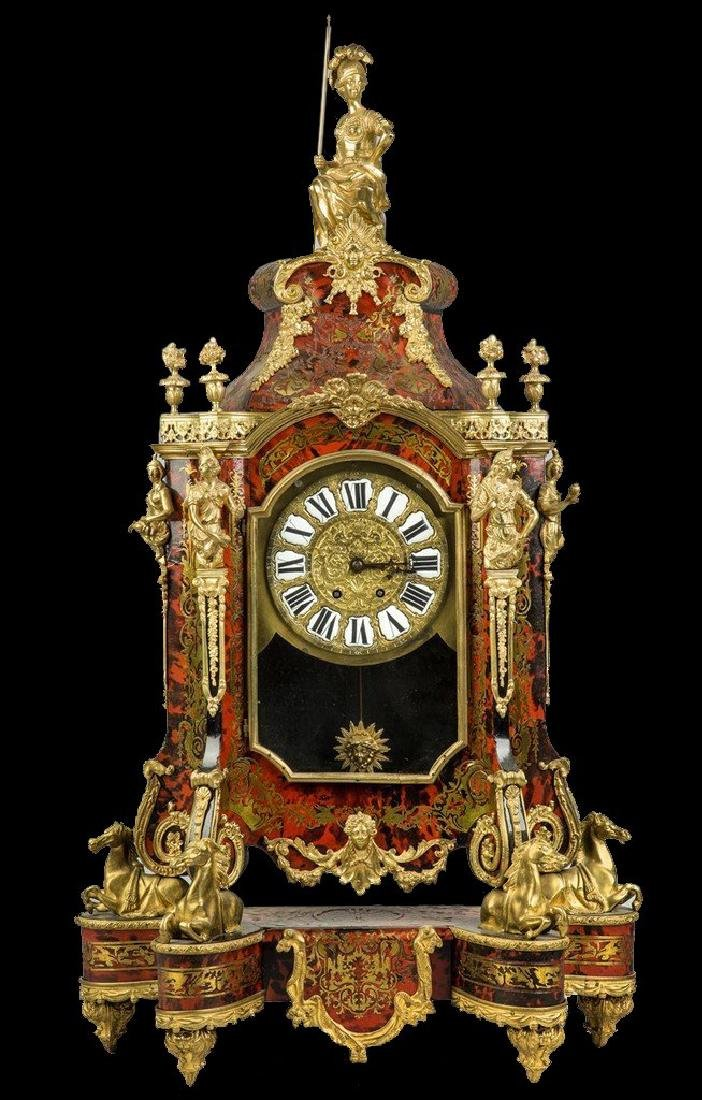 19th C. French Palatial Boulle Mantle Clock