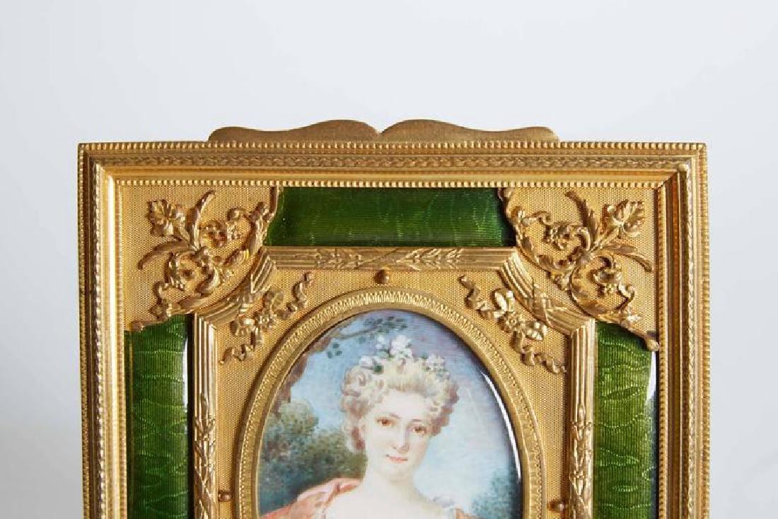 Gilt Bronze Ormolu & Green Guilloche Enamel Frame - 4