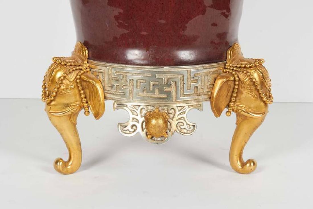 Japonisme Ormolu/Silvered Bronze Chinese Porcelain Vase - 2