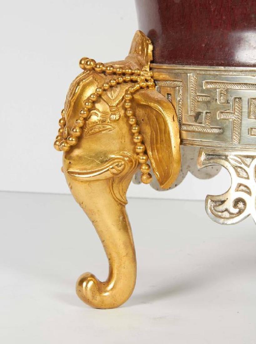Japonisme Ormolu/Silvered Bronze Chinese Porcelain Vase - 3