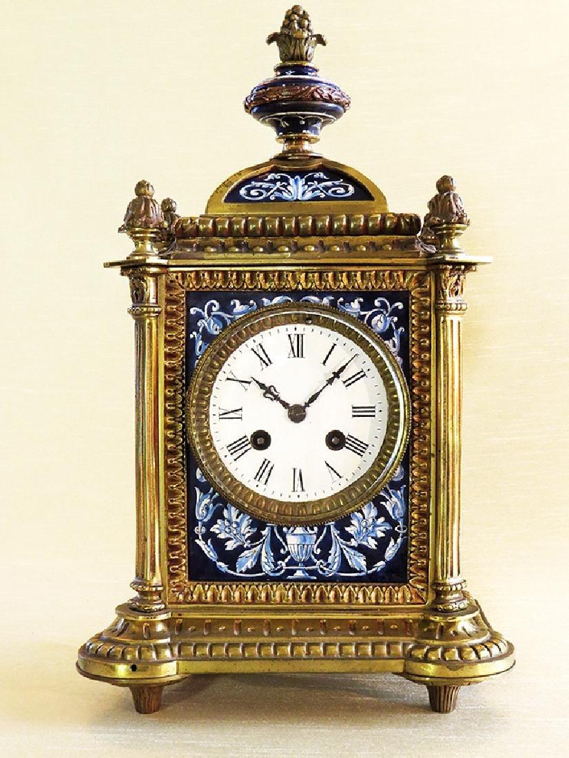 French Gilt Ornate Porcelain Clock