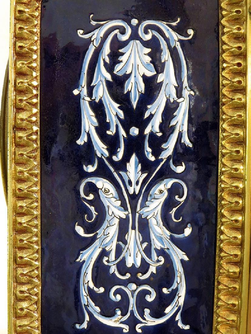 French Gilt Ornate Porcelain Clock - 8