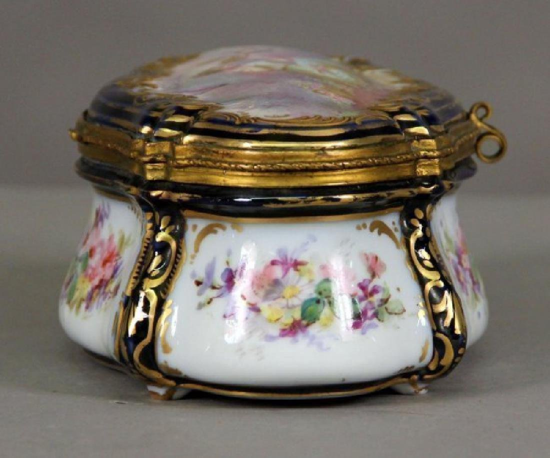 19th C. Sevres Style Jewelry Box - 4