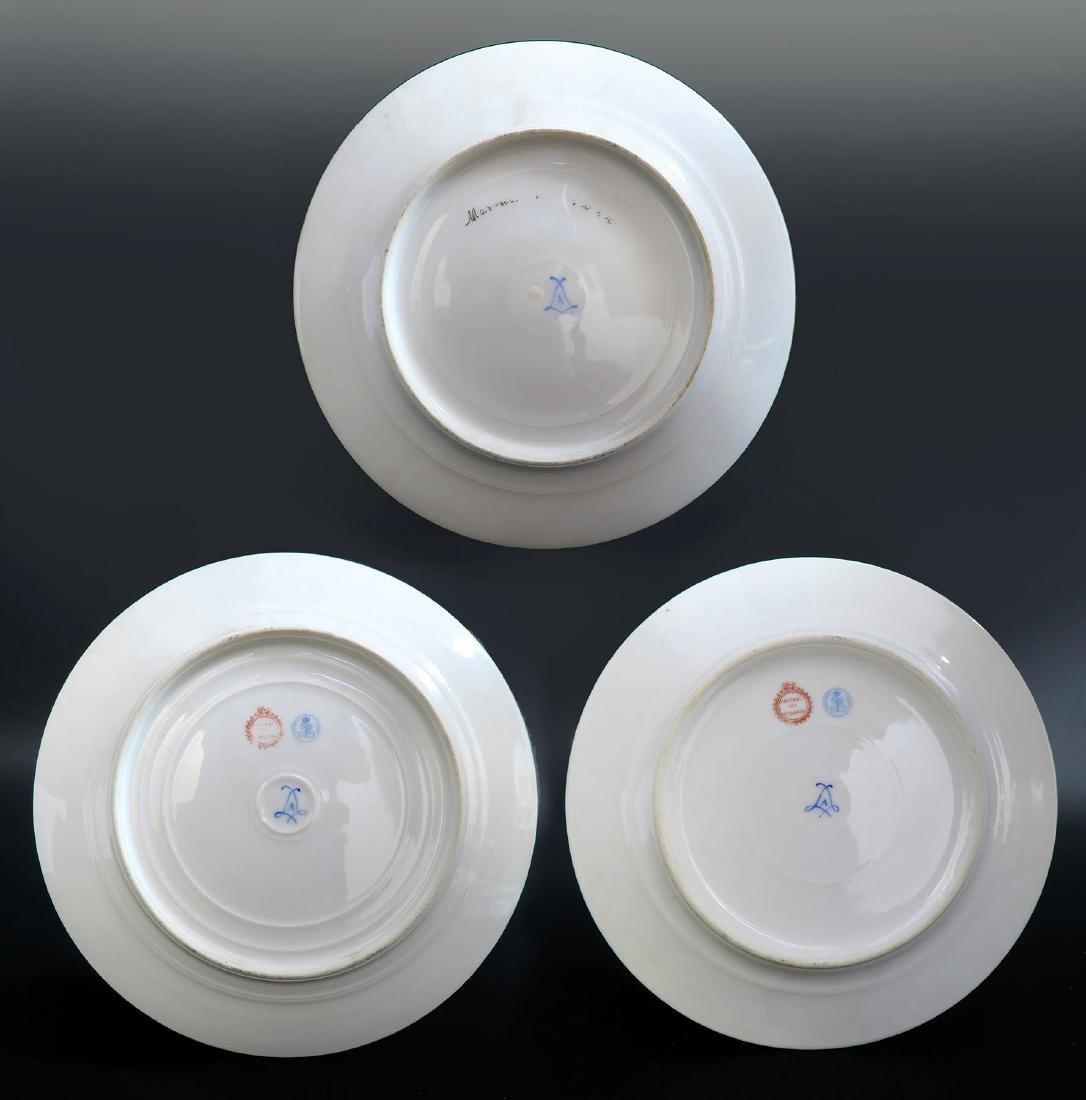 Set of 5 Hand Painted Portrait Sevres Plates - 7