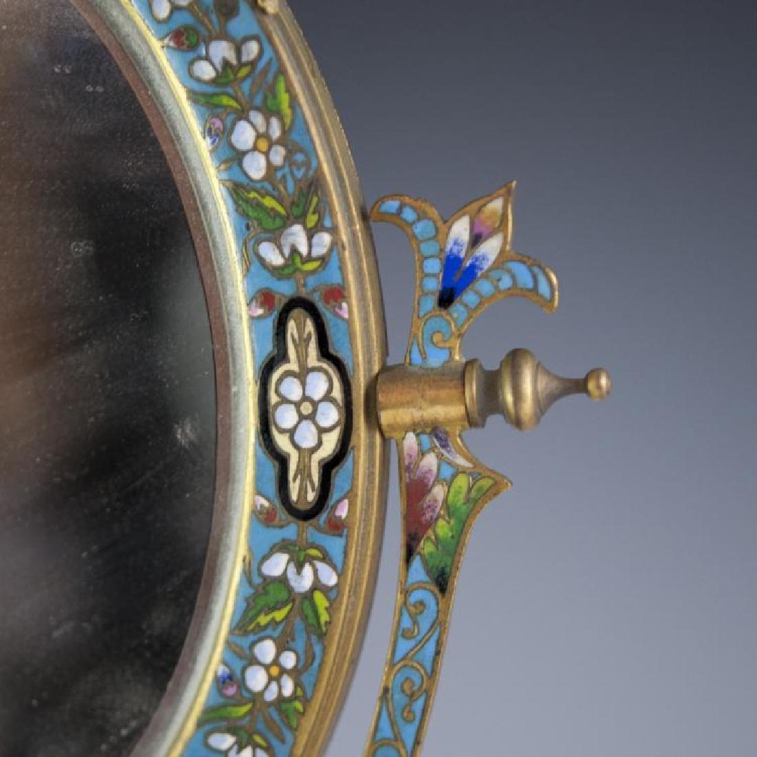 Napoleon III French Champleve Dore Bronze Mirror - 3