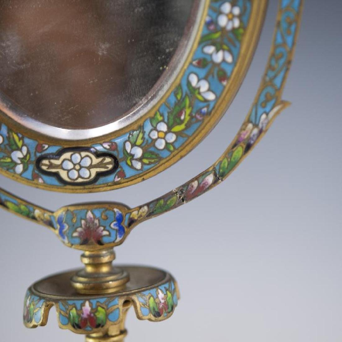 Napoleon III French Champleve Dore Bronze Mirror - 4