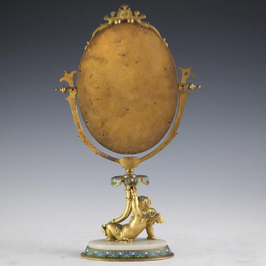 Napoleon III French Champleve Dore Bronze Mirror - 6