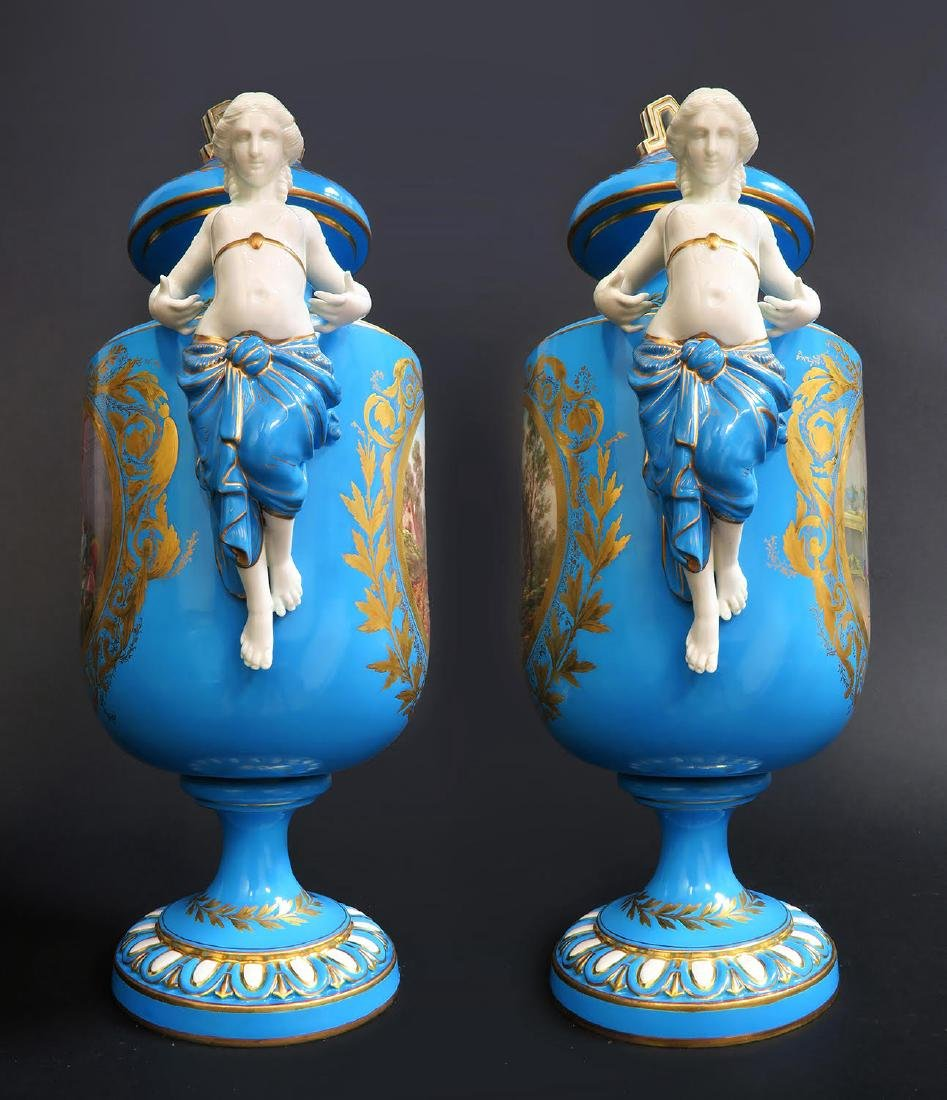 Pair of French Figural Sevres Porcelain Urns - 2