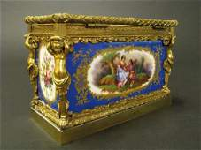 Magnificent 19th C. Sevres Jewelry box or casket