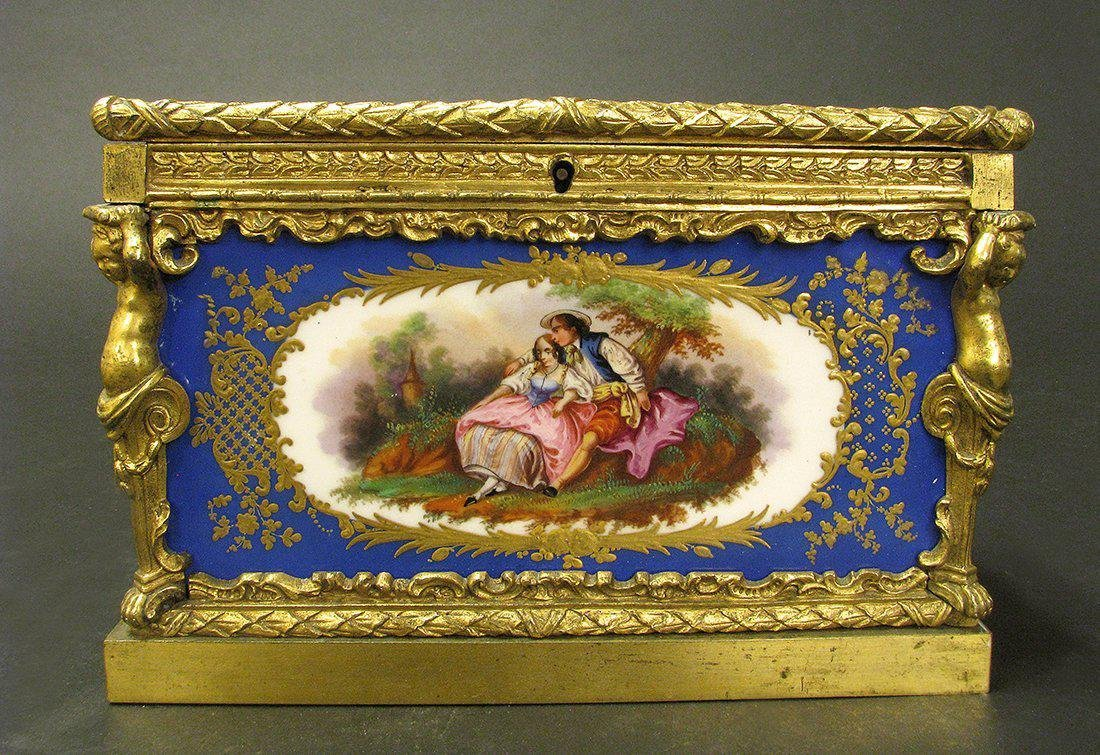 Magnificent 19th C. Sevres Jewelry box or casket - 2