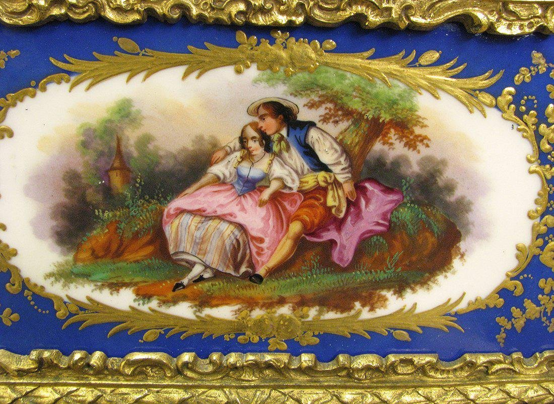 Magnificent 19th C. Sevres Jewelry box or casket - 3