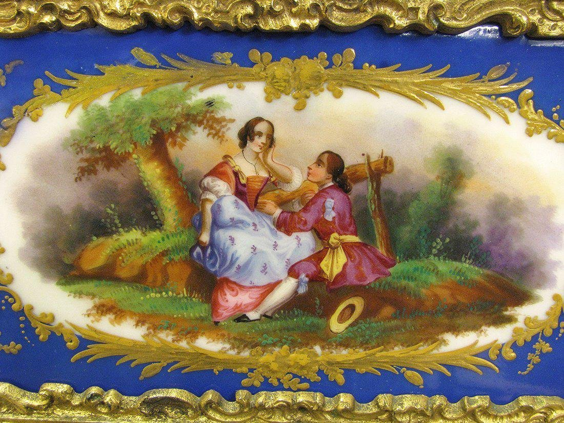 Magnificent 19th C. Sevres Jewelry box or casket - 4