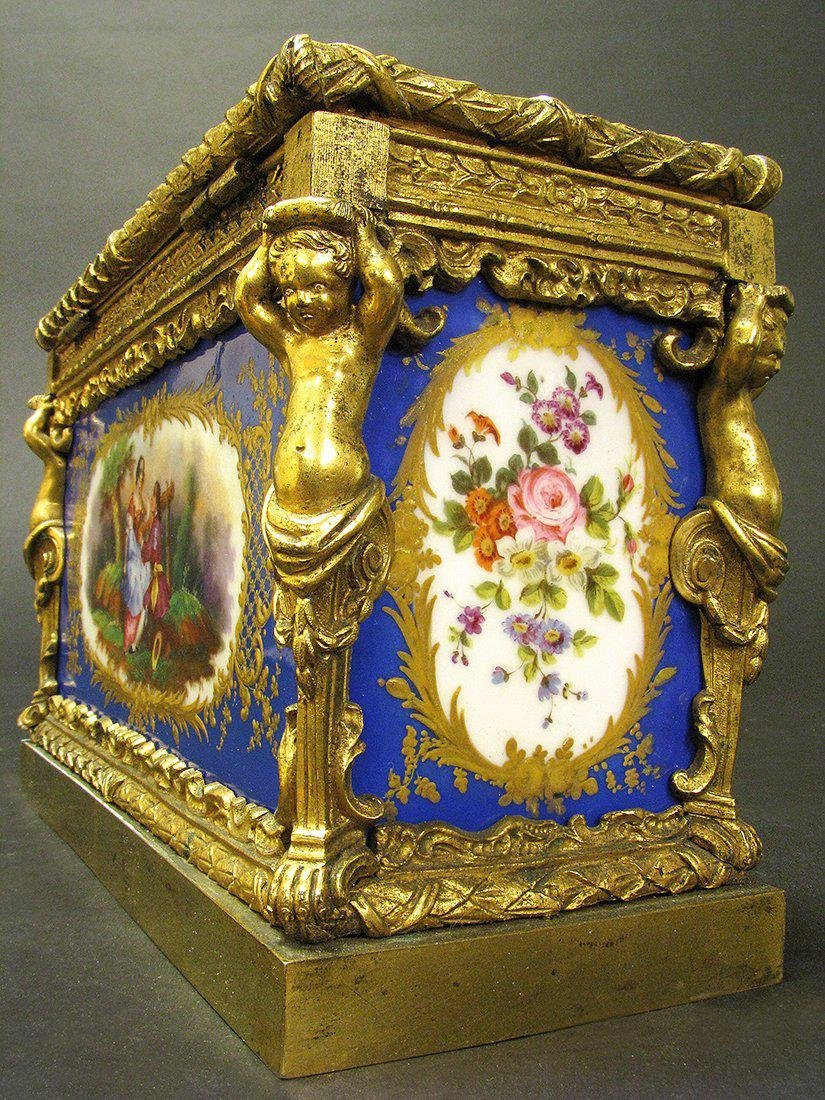 Magnificent 19th C. Sevres Jewelry box or casket - 5