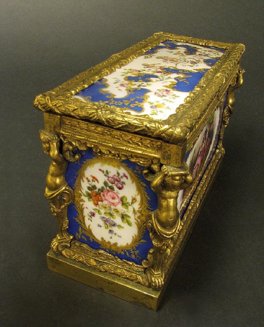 Magnificent 19th C. Sevres Jewelry box or casket - 8