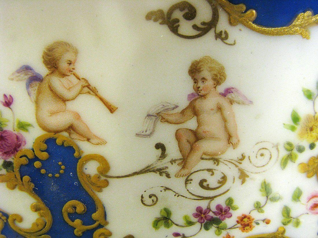 Magnificent 19th C. Sevres Jewelry box or casket - 9