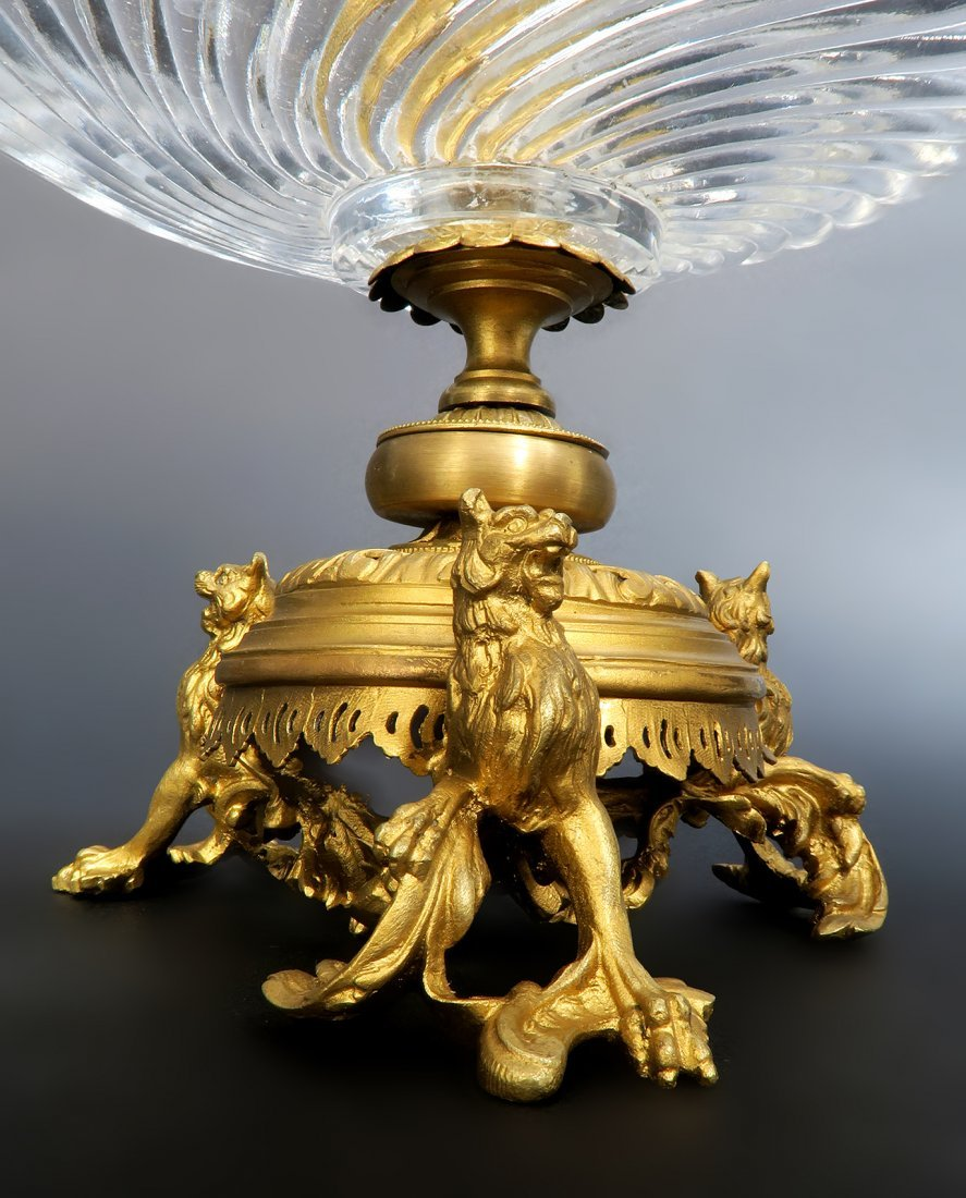 French Bronze & Baccarat Crystal Centerpiece - 3