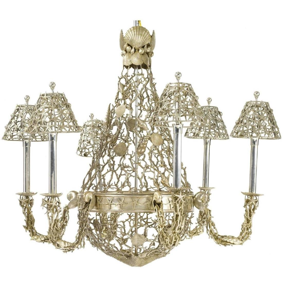 Style Marine Seashell Nautical Chandelier