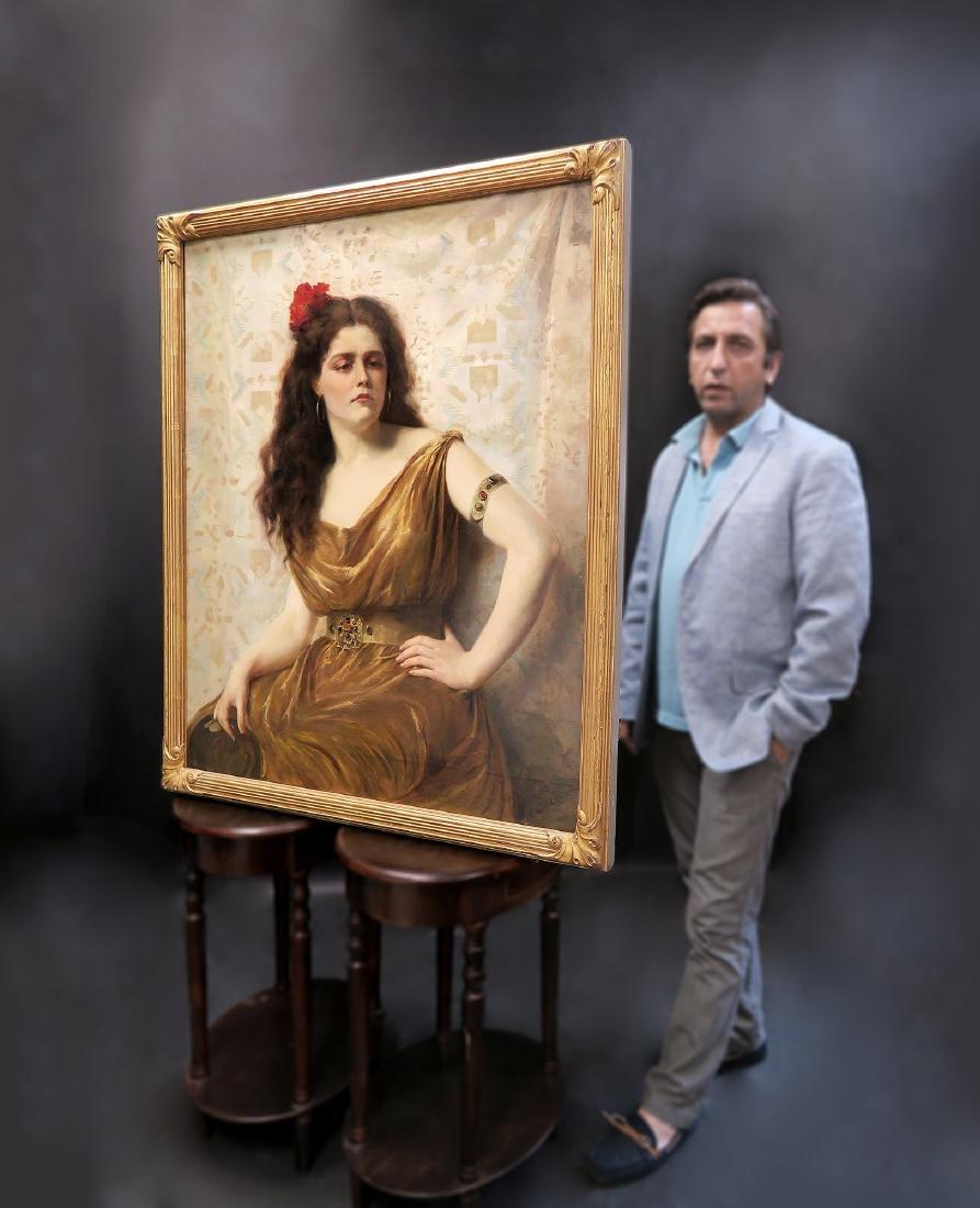 """""""Luis Ricardo Faldero"""" Portrait Painting Oil on Canvas"""