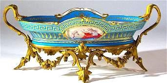 Very Fine Bronze Mounted Sevres Centerpiece. 19th C