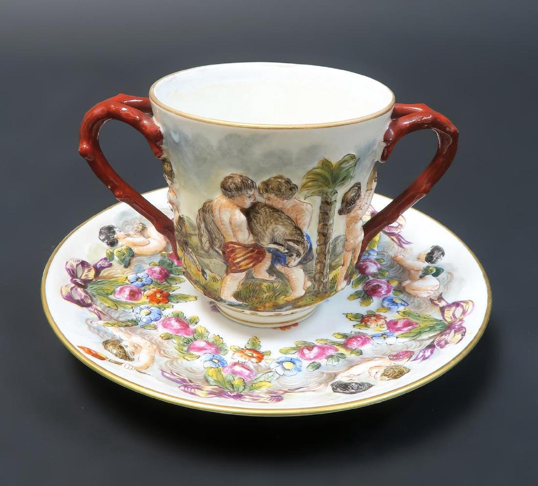GERMANY CARL THIEME (POTSCHAPPEL) CUP AND SAUCER