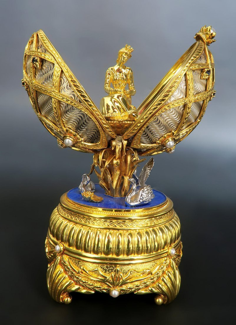 Faberge Swan Lake Imperial Jeweled Musical Egg - 3