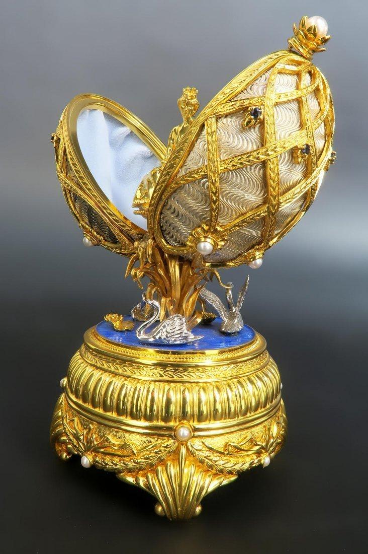 Faberge Swan Lake Imperial Jeweled Musical Egg - 4