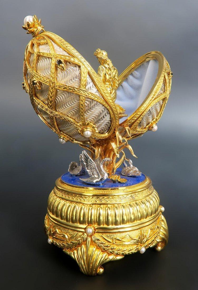 Faberge Swan Lake Imperial Jeweled Musical Egg - 5