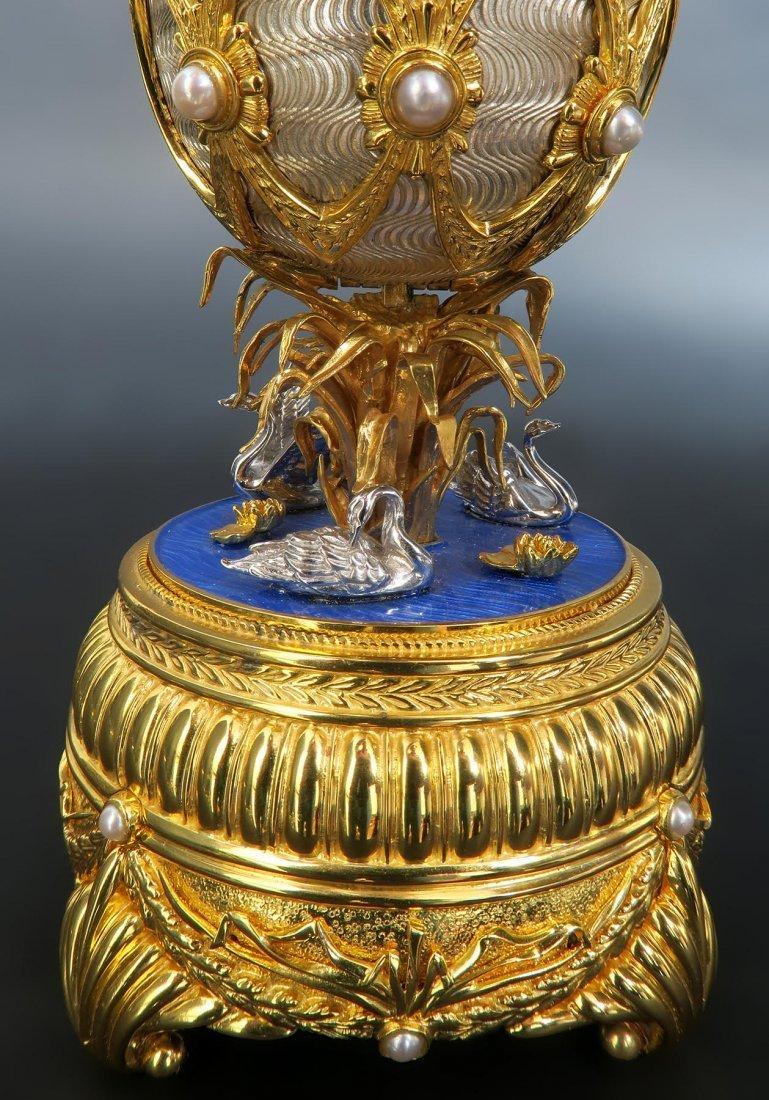 Faberge Swan Lake Imperial Jeweled Musical Egg - 7