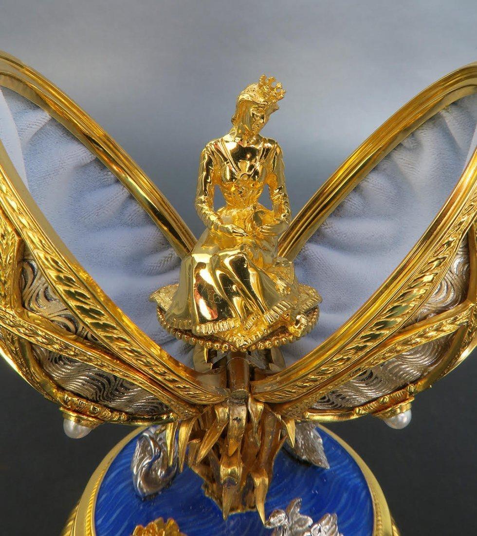 Faberge Swan Lake Imperial Jeweled Musical Egg - 8