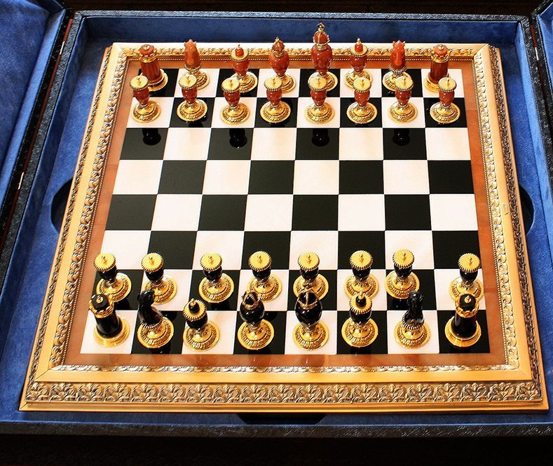 Faberge Imperial Onyx, Agate & Calcite Chess Set - 2