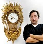 19th C. French Tiffany & Co Figural Cartel Clock