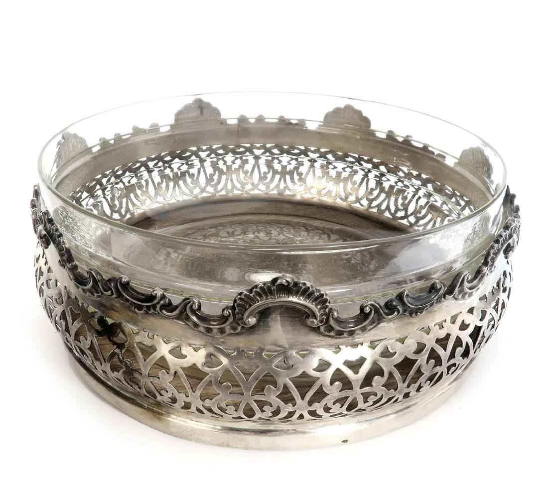 19th C. Silver-plate Centerpiece