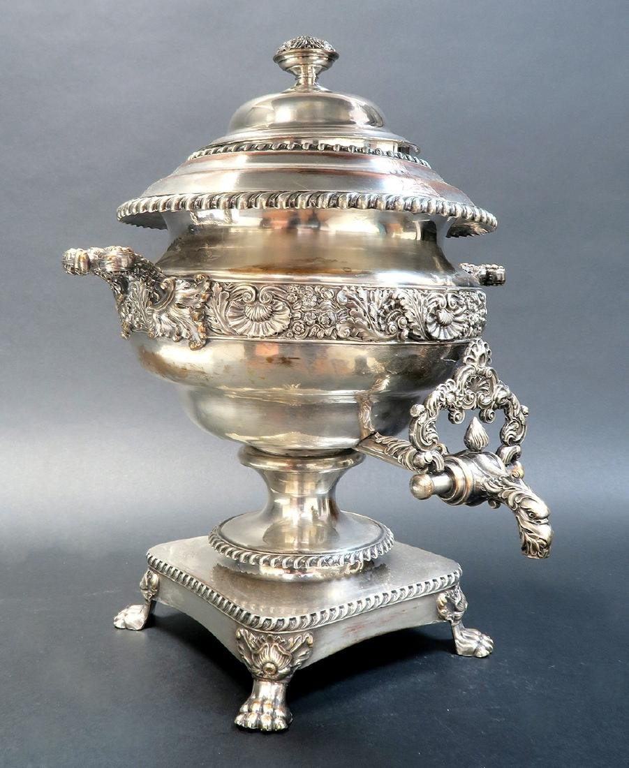 Magnificent Silver-Plate Samovar, 19th C.
